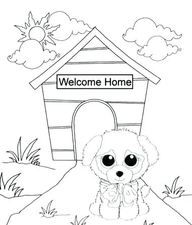 381x445 Ty Beanie Boo Coloring Pages To Print Awesome And Dog Page Beani
