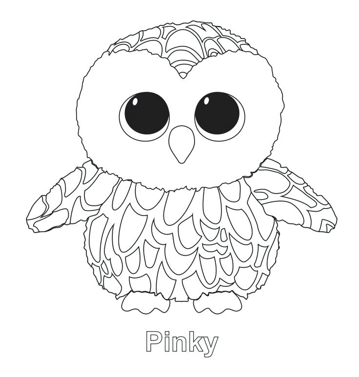 736x773 Ty Beanie Boo Coloring Sheets The Owl Beanie Boo Ty Beanie Boo