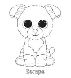 236x258 Ty Beanie Boos Coloring Pages Kid's Stuff Beanie