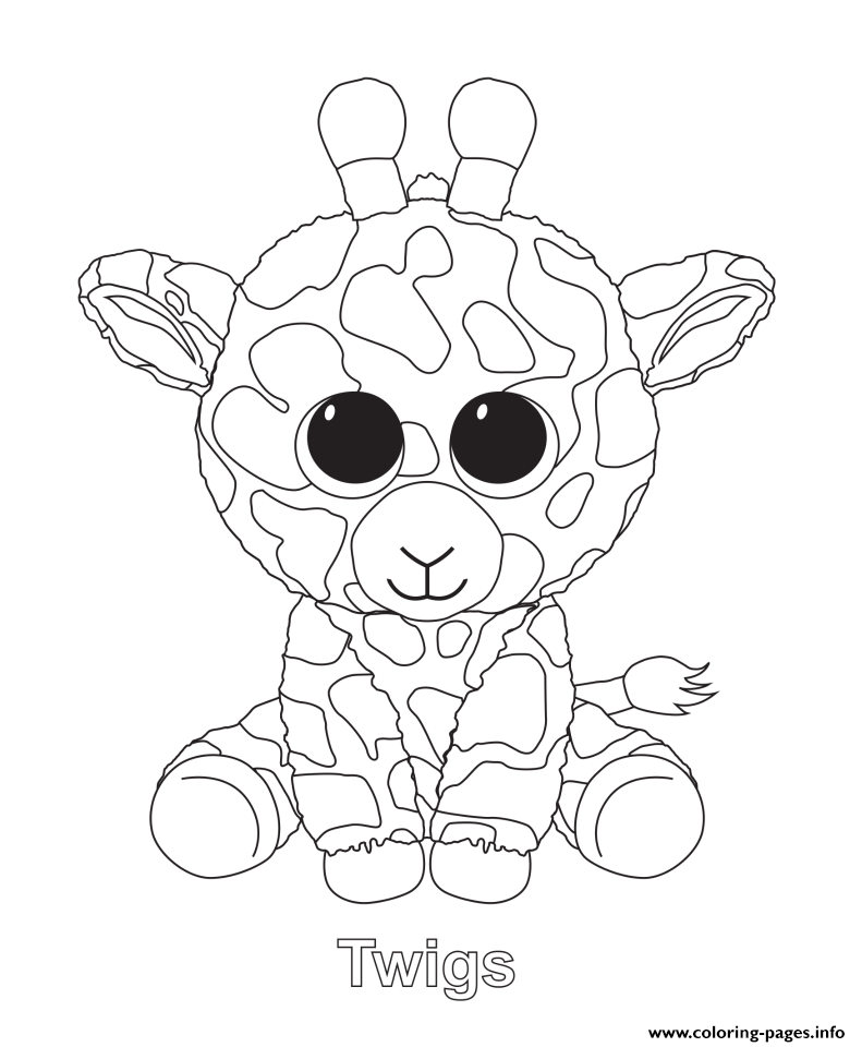 791x960 Ty Beanie Boos Coloring Pages Extraordinary Twigs Beanie Boo