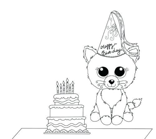 500x445 Beanie Boo Coloring Pages And Beanie Boo Birthday Coloring Page