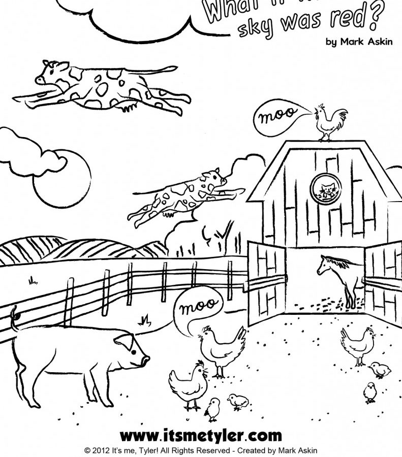 791x900 Click Clack Moo Cows That Type Coloring Pages Click Clack Moo Cows
