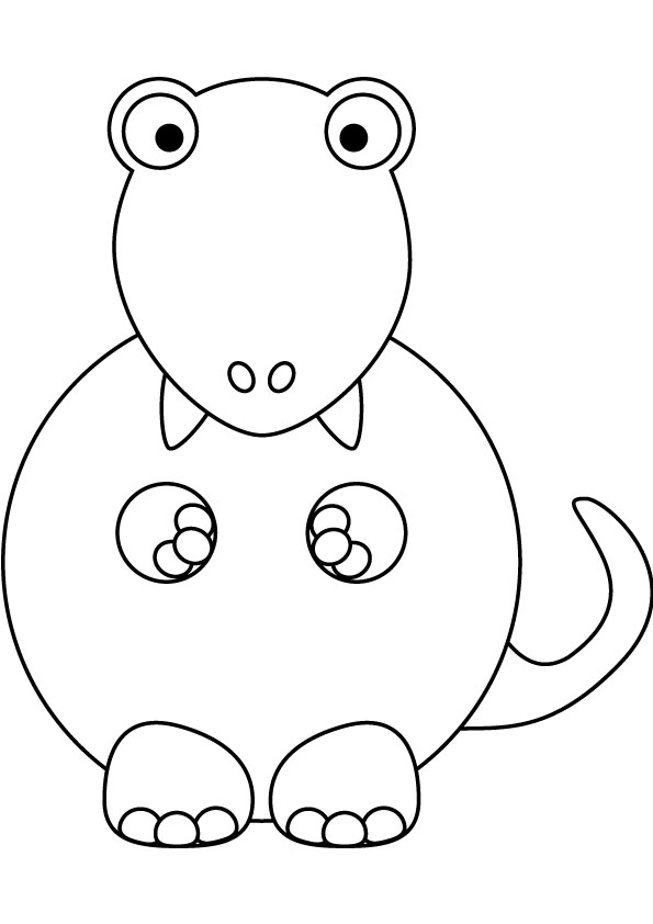 595x842 Baby Tyrannosaurus Coloring Pages Kids