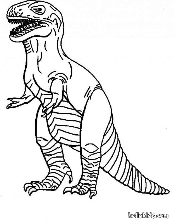669x850 Tyrannosaurus Coloring Pages