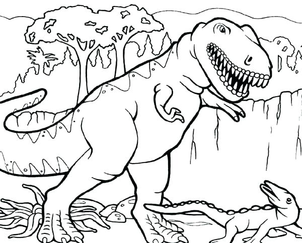 600x483 Dinosaur Tyrannosaurus Coloring Book Pages For Print Printable T