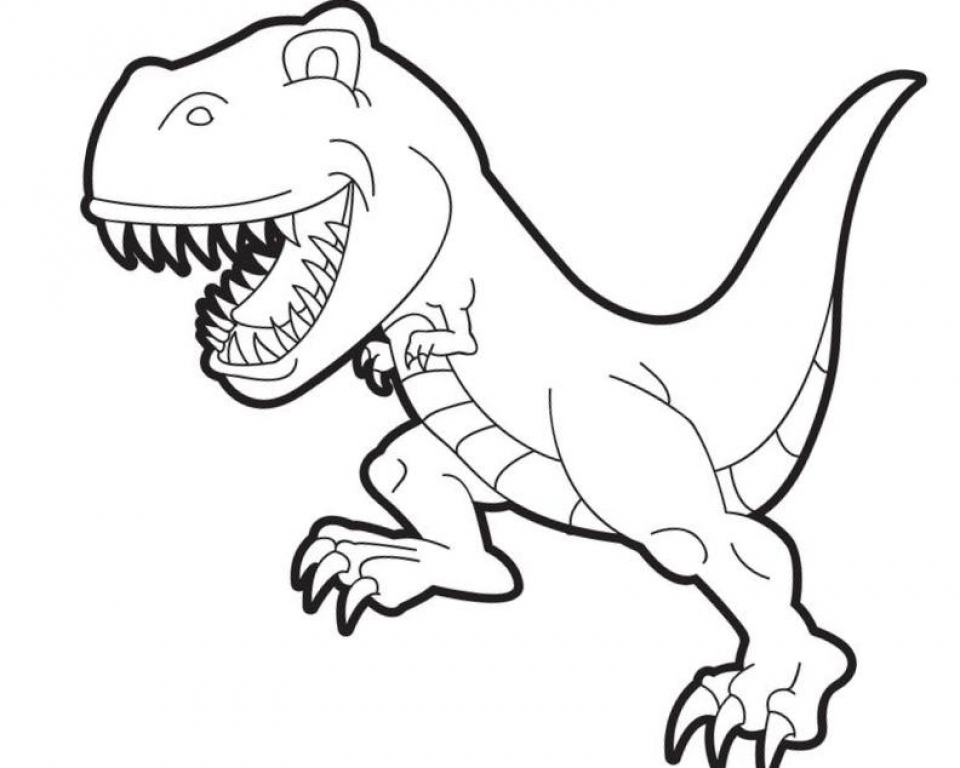 960x768 T Rex Coloring Pages Unique Rex Coloring Line Free Coloring Pages