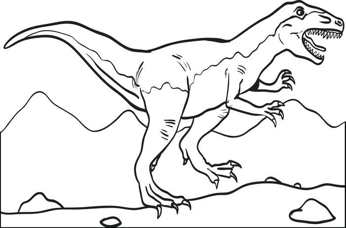Tyrannosaurus Rex Coloring Page at GetDrawings | Free download