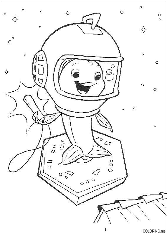 567x794 Coloring Page Chicken Little Fish Ufo