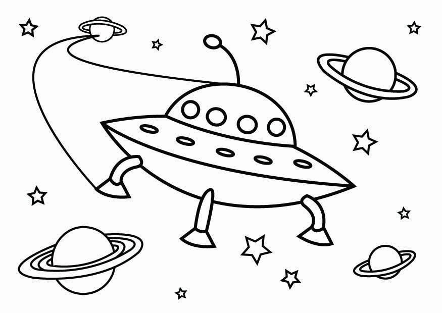 875x620 Coloring Page Ufo