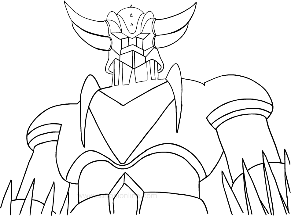 952x708 Drawing Ufo Robo Grendizer Coloring Page