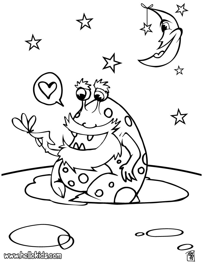 820x1059 Funny Alien In Ufo Coloring Page For Kids Pages Space Ripping
