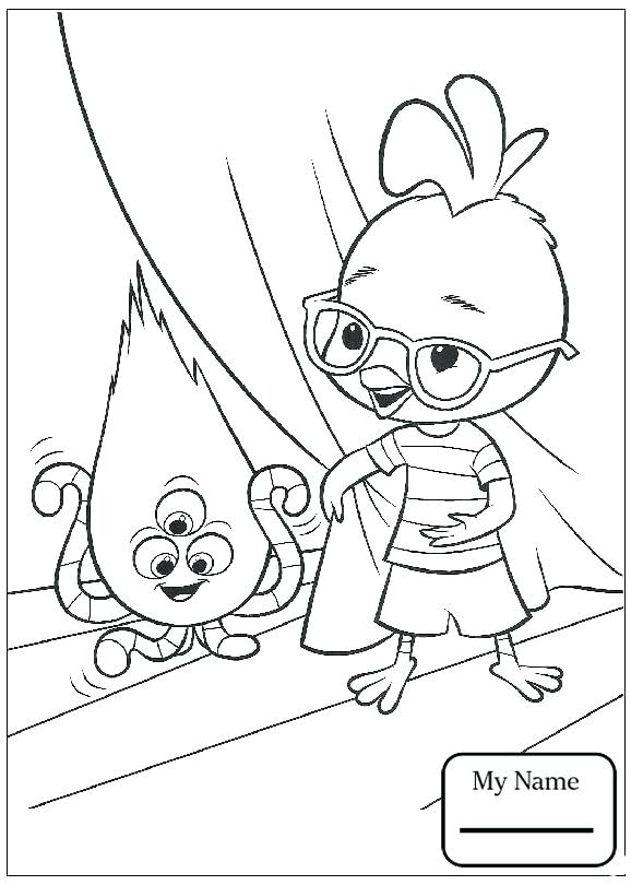 578x810 Ufo Coloring Pages Chicken Little Cartoons Chicken Little Tells