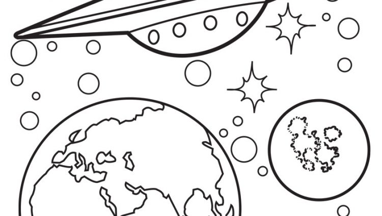 750x425 Ufo Coloring Page Ufo Coloring Pages Drawn Ufo Coloring Pencil