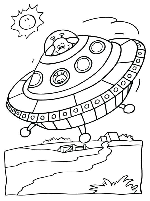 600x800 Ufo Coloring Pages