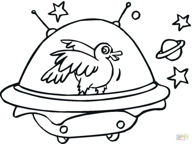 728x547 Alien Ride Ufo Coloring Page Pages Christmas Cards Drawn Space