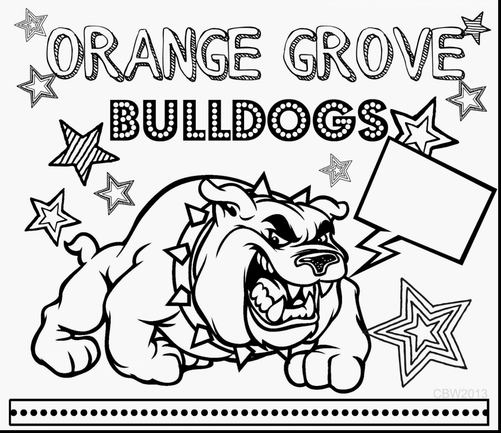 1760x1521 Best Of Superb Georgia Bulldogs Coloring Pages With Bulldog