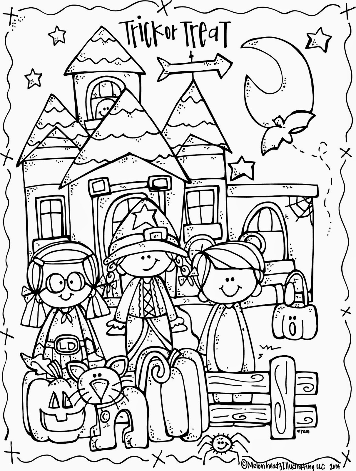 1211x1600 Melonheadz Lucy Doris Halloween Coloring Page Freebie!