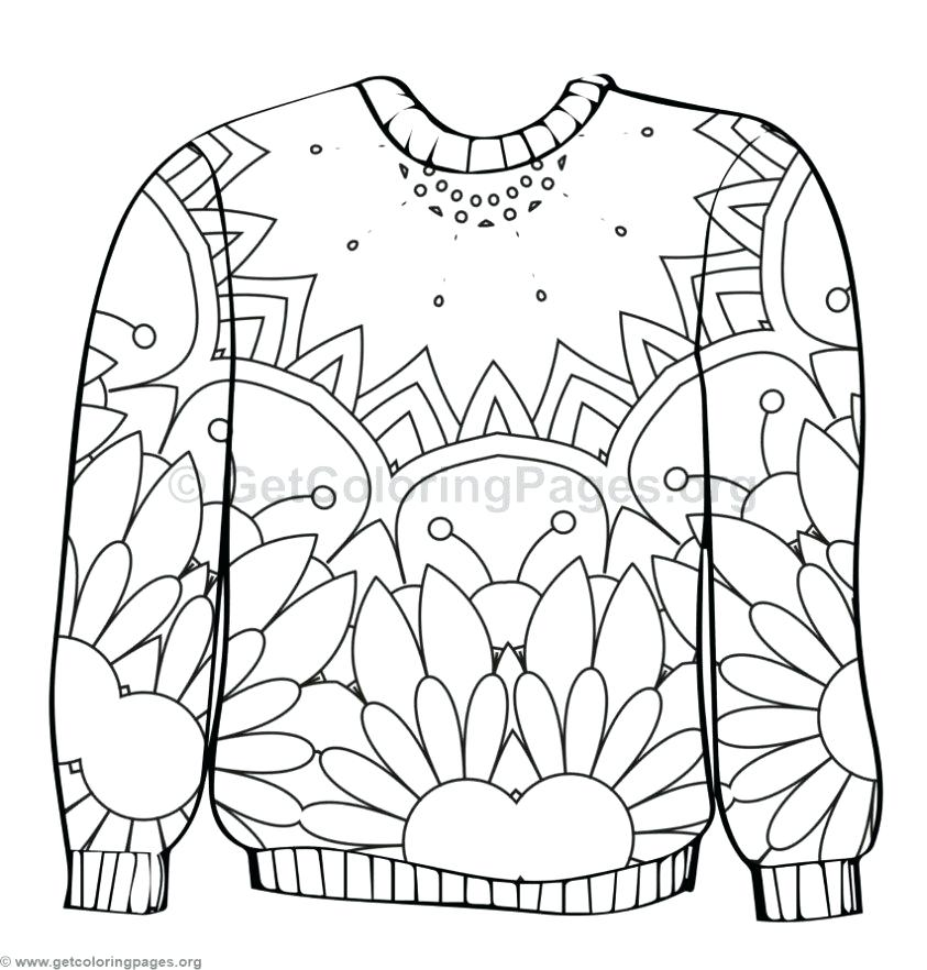 843x882 Christmas Jumper Coloring Pages Ugly Sweater Colouring Pages