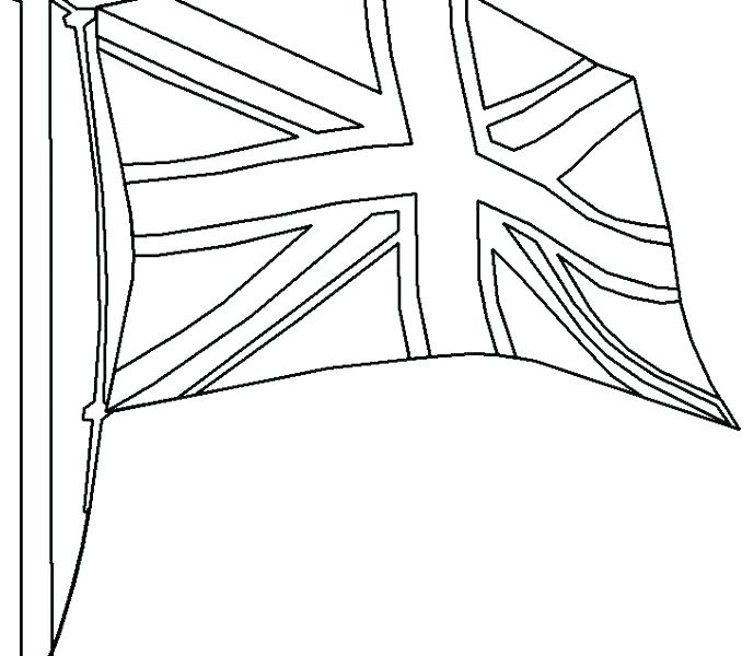 678x600 England Flag Coloring Page Flag Coloring Pages With Flag