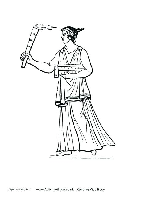 460x650 Greece Flag Coloring Page Coloring Pages Ancient Torch Colouring