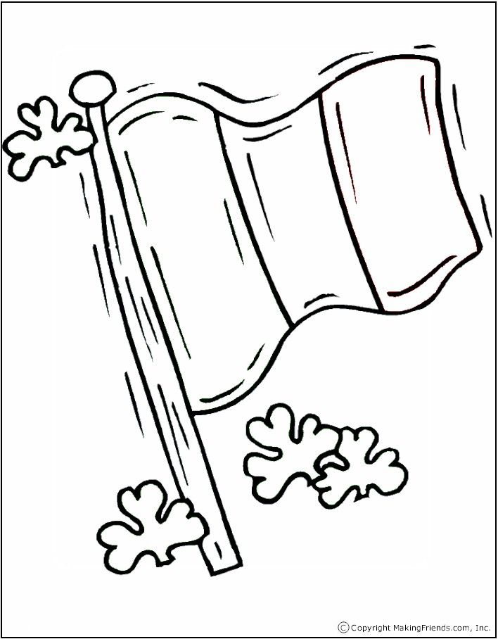 708x908 Irish Flag Coloring Page Irish Flags, Flags And Ireland