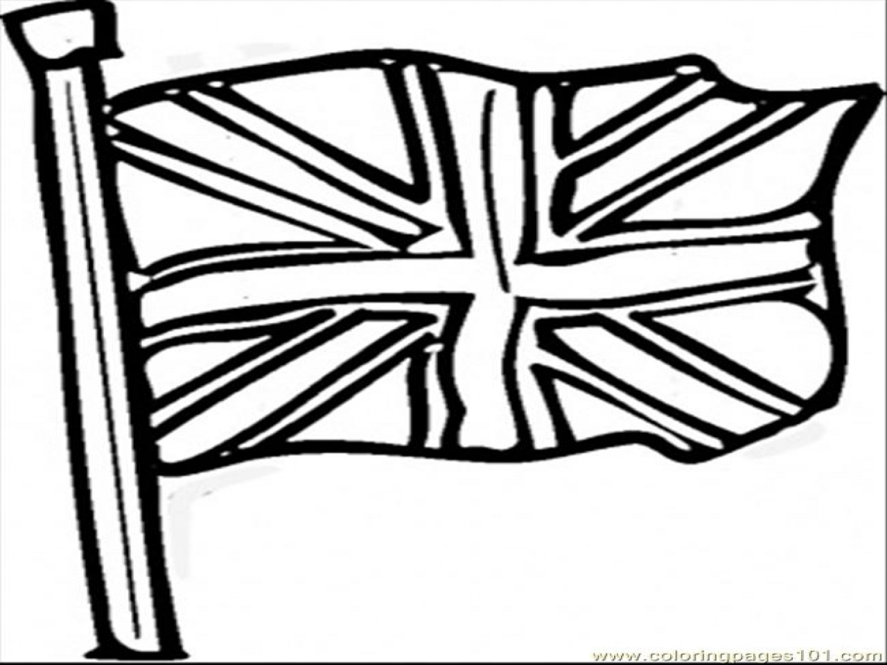 1280x960 London Flag Coloring Page British Countries Great Britain