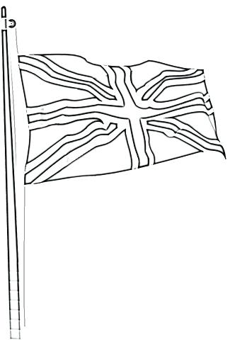325x480 Union Jack Coloring Page United Kingdom Flag Tracing United