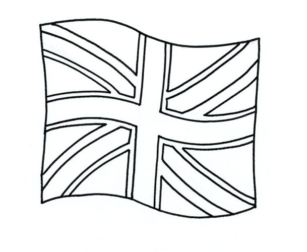 609x500 Coloring Page British Flag Coloring Page Printable British Flag