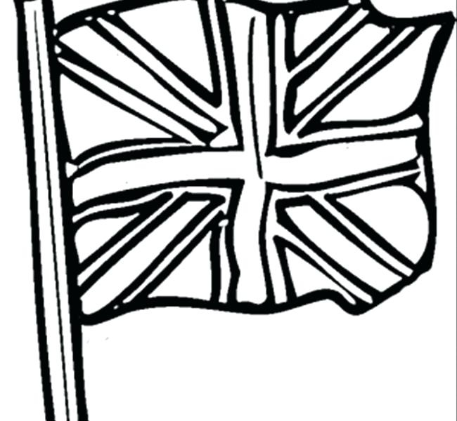 650x600 British Flag Coloring Page Great Flag Coloring Page British Flag