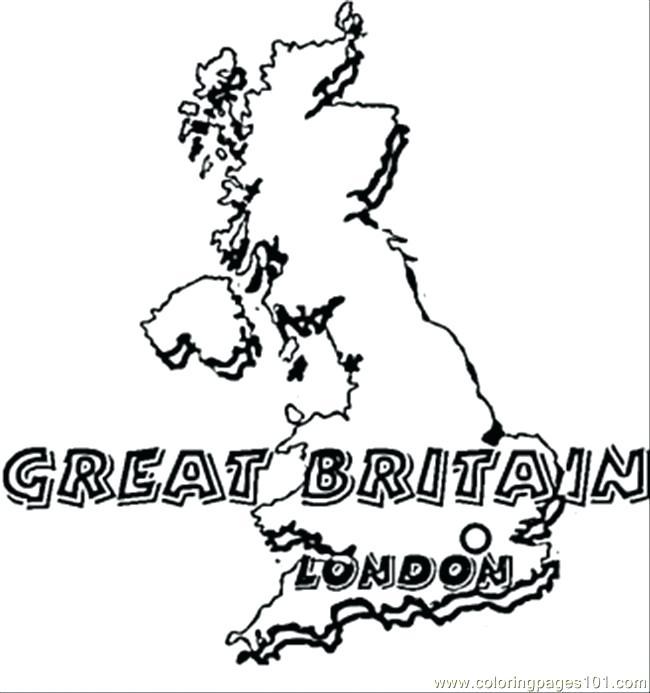 650x693 British Flag Coloring Page Map Of Great Coloring Page British