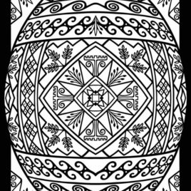 Ukrainian Easter Egg Coloring Pages | http://www.papereggs.com ... | 268x268