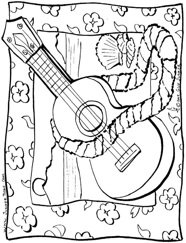 650x849 Coloring Pages Of Ukulele