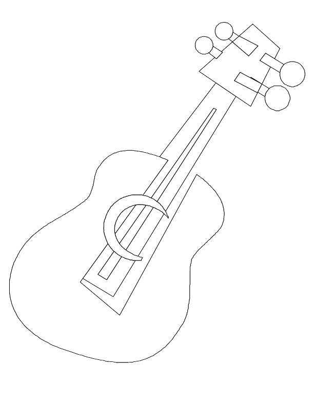 612x792 Guitar Coloring Pages