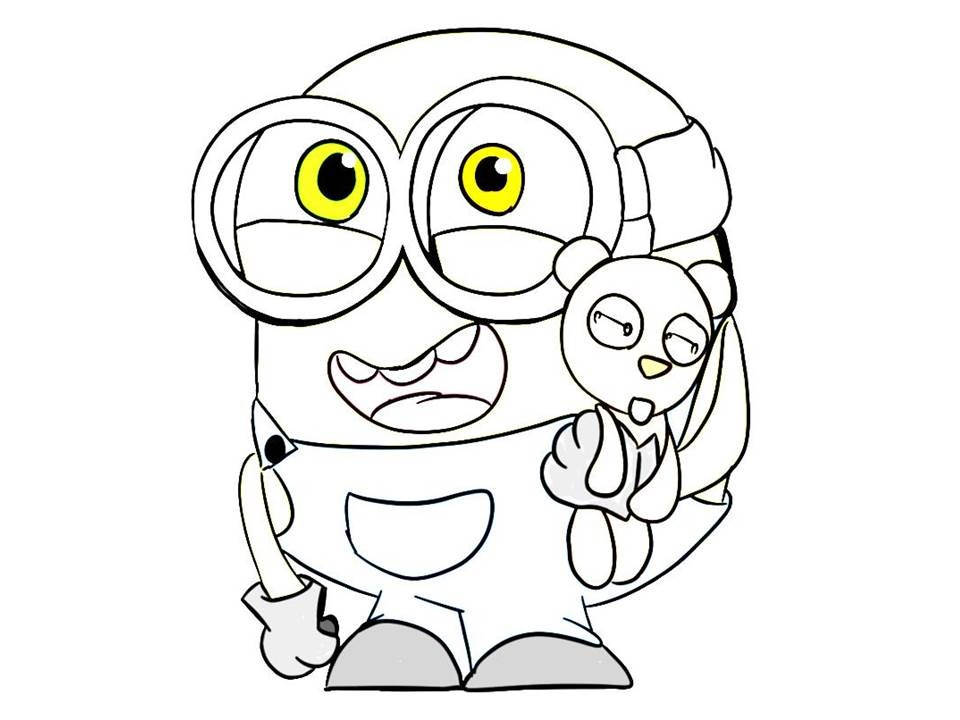 960x720 Bob The Minion Coloring Pages New Minions Drawing