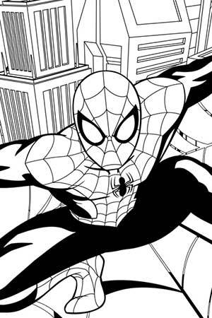 300x450 Ultimate Spider Man Coloring Page Spider Man Activities Marvel Hq
