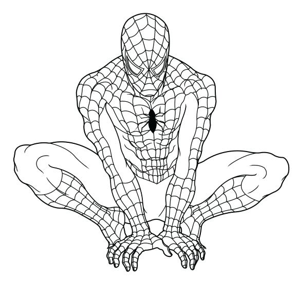 580x580 Coloring Pages Of Ultimate Spider Man Vanda