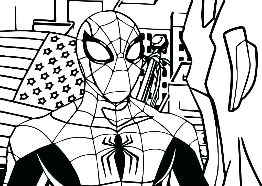 1024x729 Lego Spiderman Coloring Pages Coloring Color Page Large Size