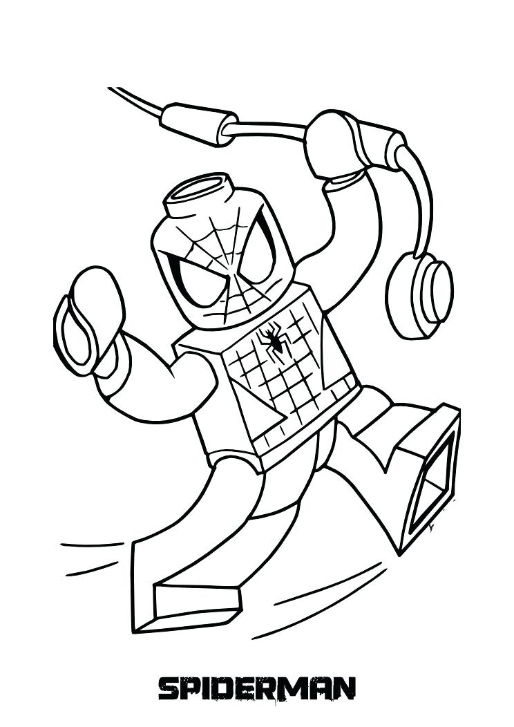 744x1052 Lego Spiderman Coloring Pages Coloring Pages For Kids Printable