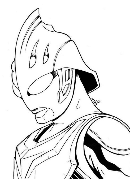550x758 Best Fantastic Ultraman Coloring Pages Images