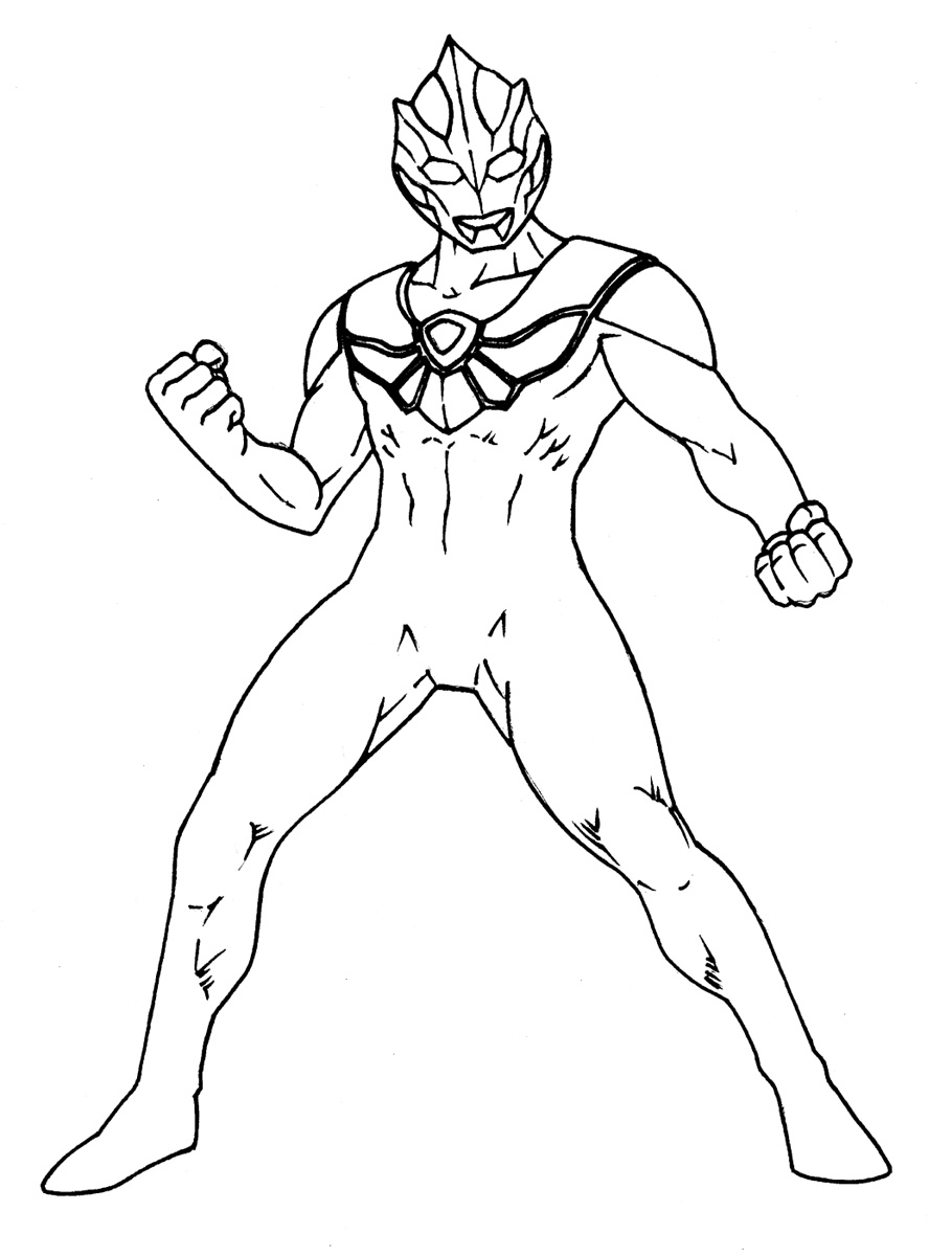 910x1200 Japanese Ultraman Coloring Pages