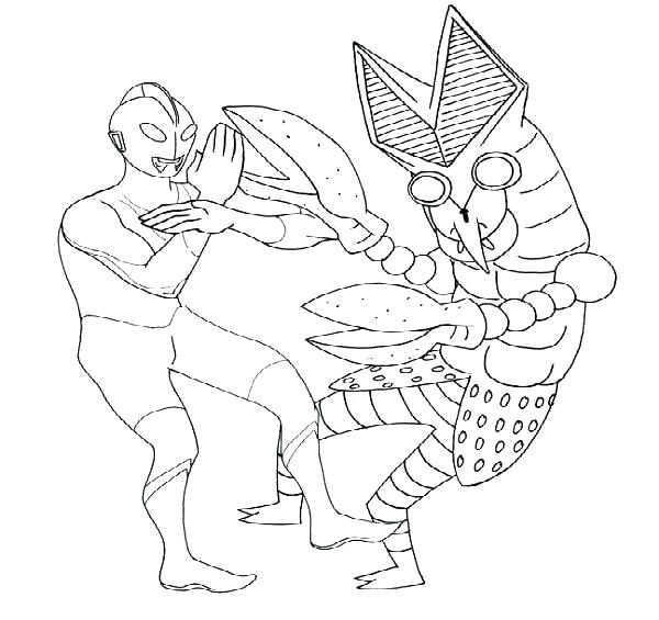 600x565 Ultraman Coloring Book Coloring Pages Coloring Book Popular