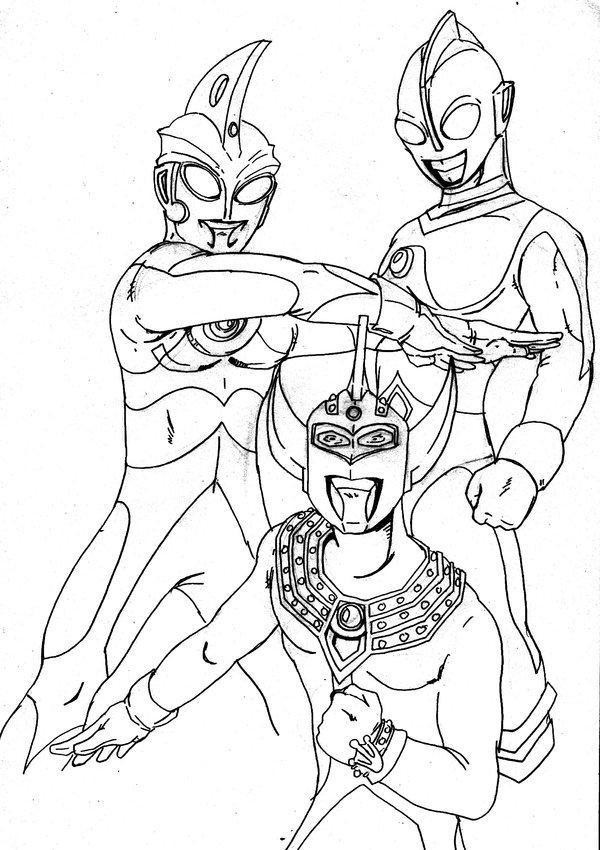 600x850 Awesome Ultraman Coloring Pages Printable Image For Trends