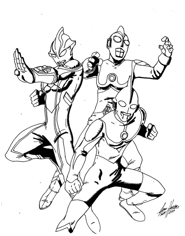 600x766 Ultraman Coloring Pages