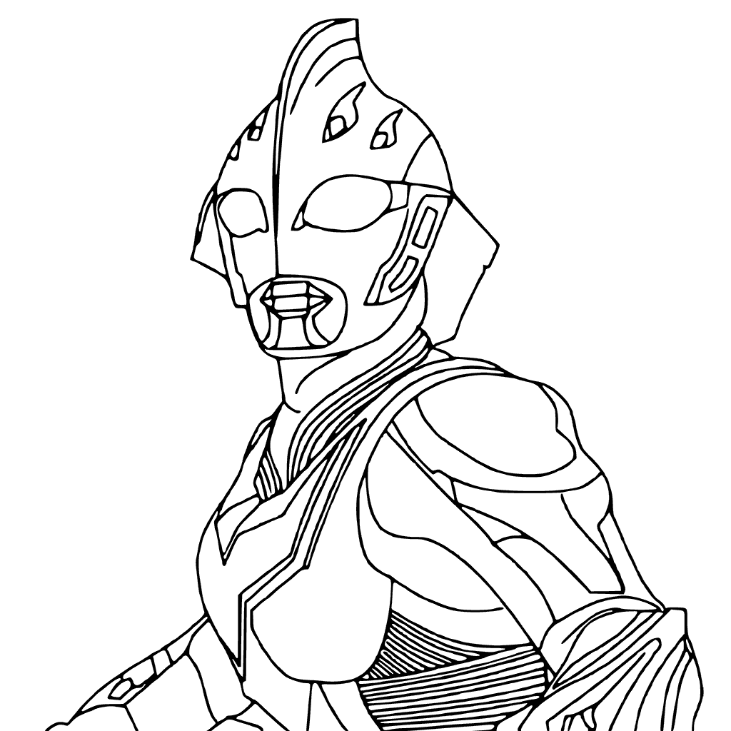 1024x1024 Ultraman Coloring Pages Free Printable