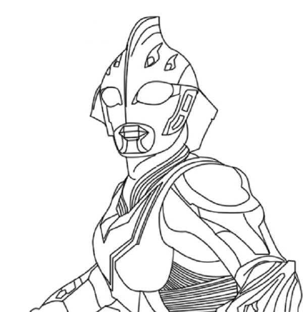 600x617 Ultraman Coloring Pages Ultraman Coloring Pages Pixels