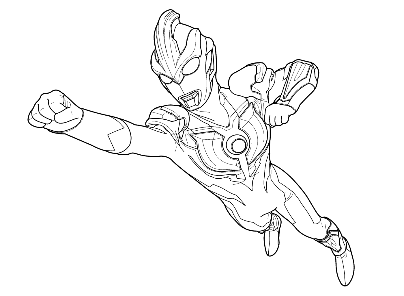 1400x1024 Ultraman Colouring Pages