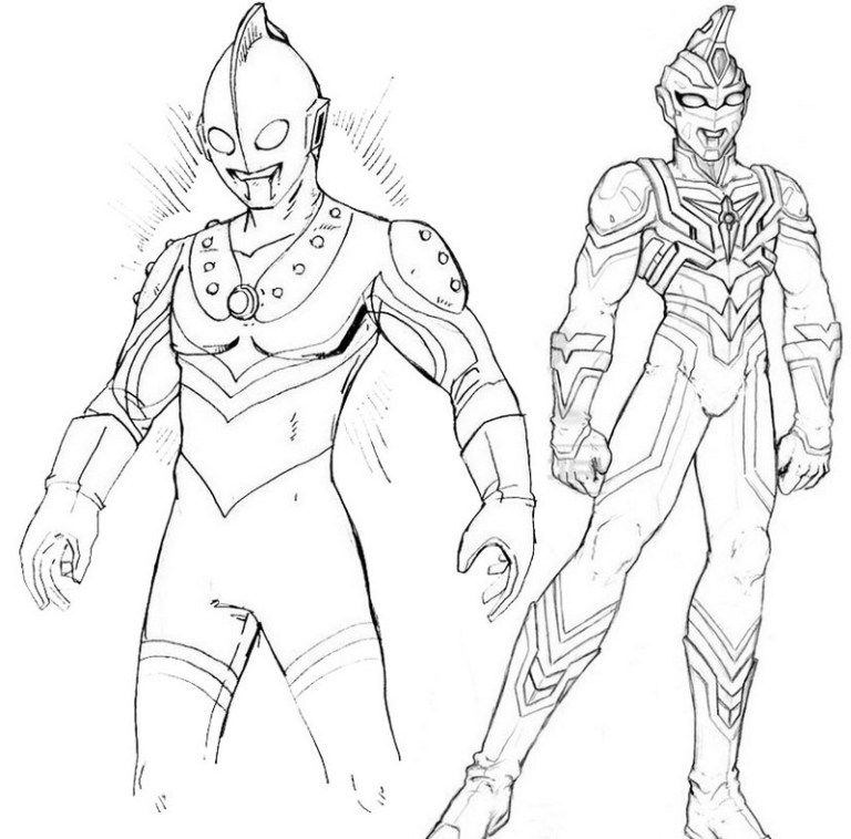 768x758 Best Ultraman Coloring Page For Kids Fantastic Ultraman Coloring