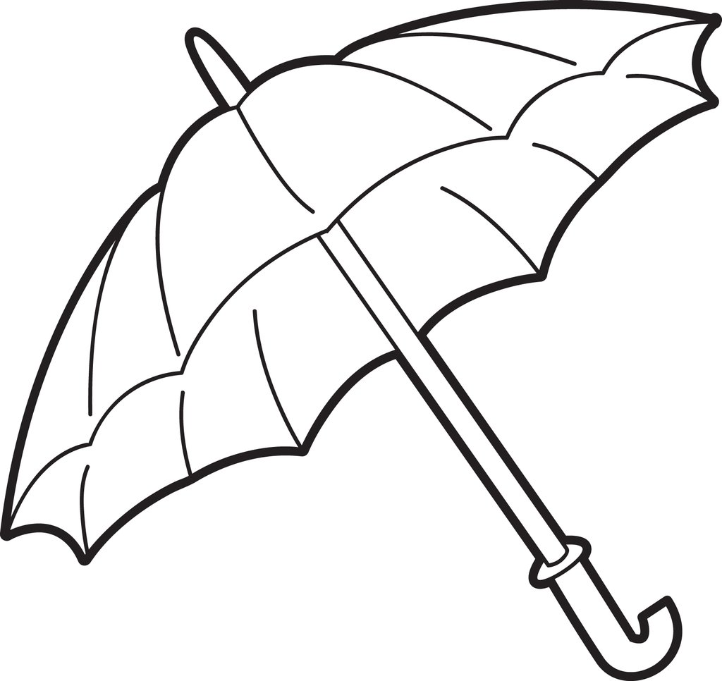 1024x966 Free, Printable Umbrella Coloring Page For Kids Supplyme