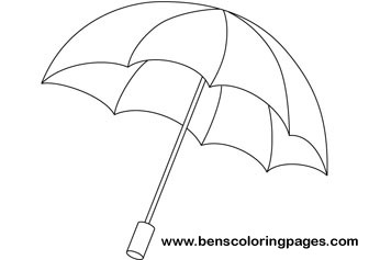 336x237 Rainbow Umbrella Coloring Pages