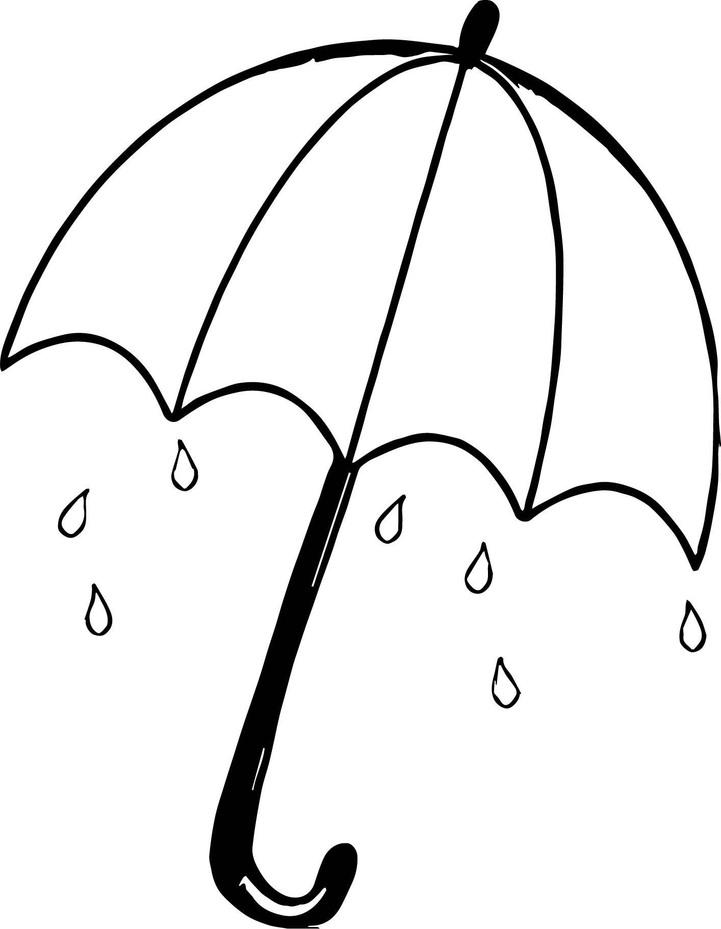 1414x1823 Umbrella Coloring Page